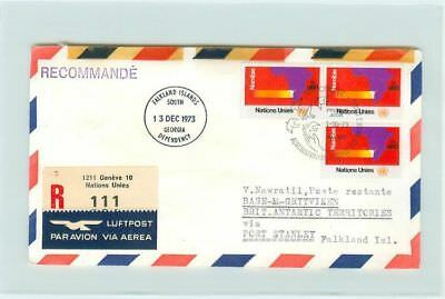 i1442 R-Brief UN Falkland Islands Inseln Genf 1973