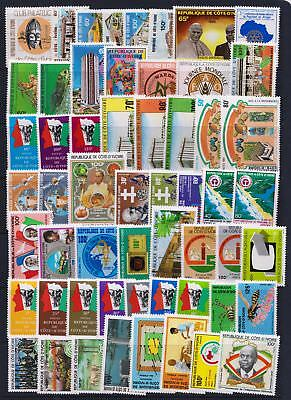 Ivory Coast 1980 - 1984 Mint hinged selection of stamps - (350)