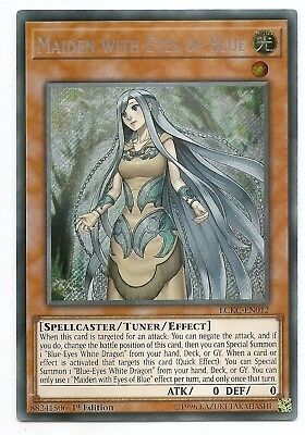 Maiden with Eyes of Blue LCKC-EN012 Secret Rare Yu-Gi-Oh Card 1st Edition New