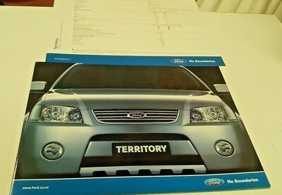2005 FORD TERRITORY New Zealand Issue Sales Brochure & Spec Sheet