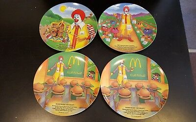 "Lot of 4 McDonald's Dinner Plates 9 1/2"" 1989"