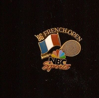 Pin'S Roland Garros Nbc Sports French Open Or 1996 *****