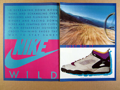 1992 Nike ACG Air Revaderchi outdoor training shoes vintage print Ad