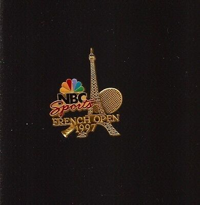 Pin'S Roland Garros Nbc Sports French Open Or 1997 *****
