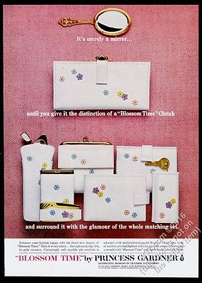 1964 Princess Gardner Blossom Time flower clutch purse photo vintage print ad