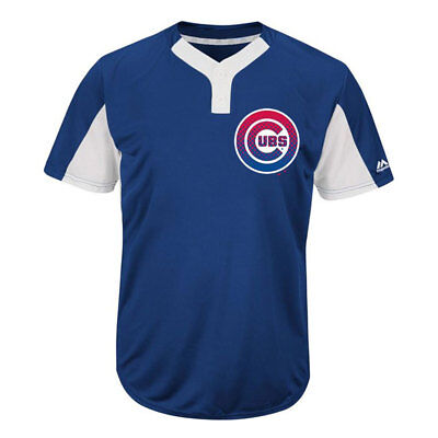 Chicago Cubs Officially Licenced MLB 2-Button Colour-blocked Jersey/T shirt