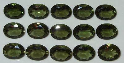 9x7mm Faceted TOP QUALITY Natural Czechoslovakia Moldavite Oval Cut