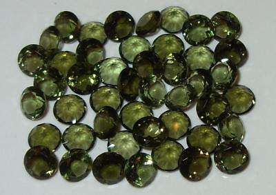6mm Faceted TOP QUALITY Natural Czechoslovakia Moldavite Round Cut