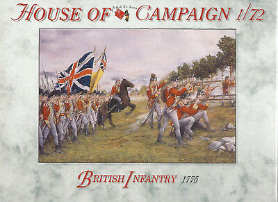1/72 House of Campaign: Britische Infanterie 1775 (65)