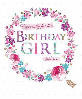 New 7 Year Old Girls Happy Birthday Greetings Card 195 Picclick Uk
