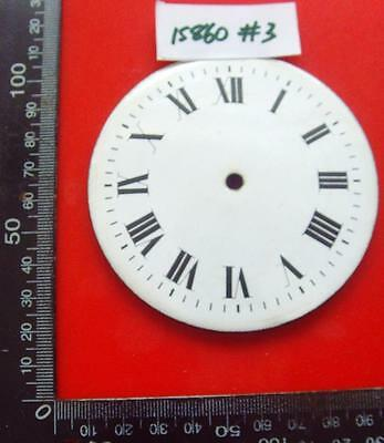 15860#3   Enamel clock dial edwardian platform type 88mm od