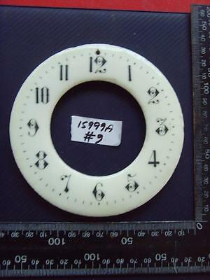 15999a#9   Enamel french clock chapter ring clock dial 125 od