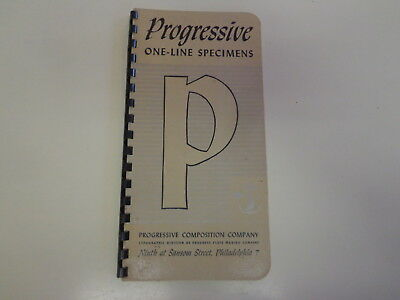 Progressive One Line Specimens 1960's Typographical Typesetting Fonts