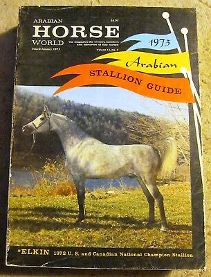 Arabian Stallion Guide- Arabian Horse World issued January 1973