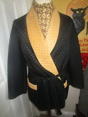 Vintage Brentford Nylons Smoking Jacket Dressing Gown Robe Paisley