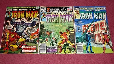 IRON MAN lot - 9 issues between #s 56 & 244 (Marvel, 1973-1989) NR!