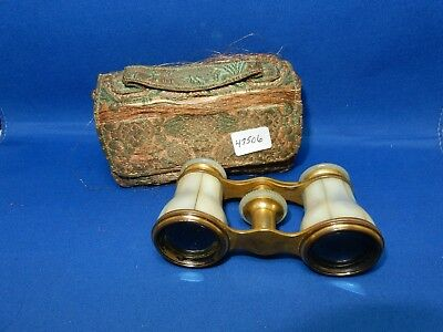 Vintage Lemaire Paris Mother of Pearl small Opera Glasses original case
