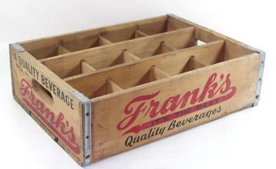 "Vintage FRANK'S ""Its the Best"" Quality Beverages PHILA PA Wood Soda Crate"