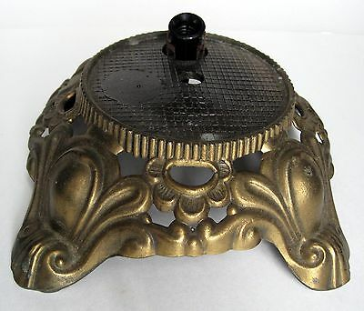 Vintage Ornate Cast Metal Footed Table Lamp Base For Nite Light Body Repair Part
