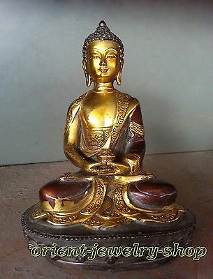 Collectables! Dynasty China Old Bronze Statue Unique Vintage Buddha Lucky