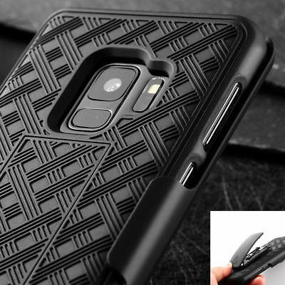 For Samsung Galaxy S9 /Plus Rugged Holster With Kickstand & Belt Clip Case Cover