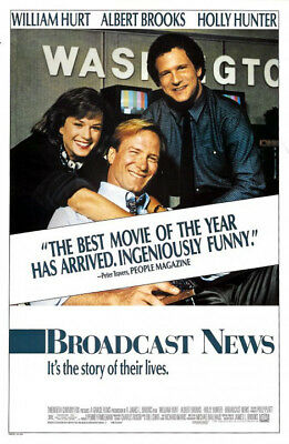 Broadcast News (1987) original movie poster - single-sided - rolled