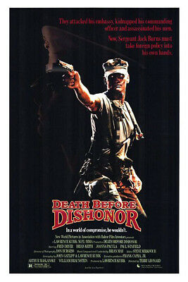 Death Before Dishonor (1987) original movie poster - single-sided - rolled