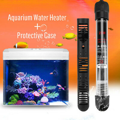 5Types Submersible Water Heater Heating Rod + Protective Case Aquarium Fish Tank