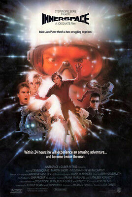 Innerspace (1987) original movie poster intl. version A single-sided rolled