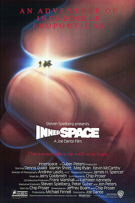 Innerspace (1987) original movie poster version A single-sided rolled