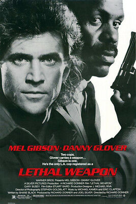 Lethal Weapon (1987) original movie poster single-sided rolled