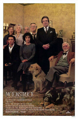 Moonstruck (1987) original movie poster version B single-sided rolled