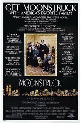 Moonstruck (1987) original movie poster version C single-sided rolled
