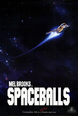 Spaceballs (1987) original movie poster advance single-sided rolled