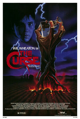 The Curse (1987) original movie poster single-sided rolled