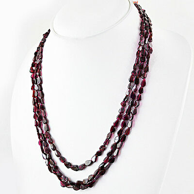 TOP ATTRACTIVE 505.00 CTS NATURAL AAA UNTREATED RICH RED GARNET BEADS NECKLACE