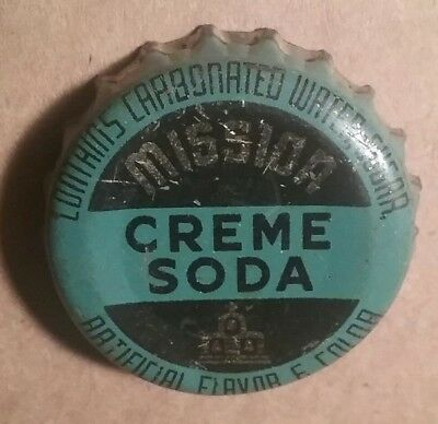 """Mission Cream Soda Bottle Crown, Cap Cork Lined, """"C C S"""" used"""