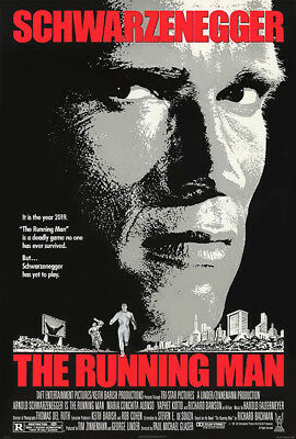 The Running Man (1987) original movie poster single-sided rolled