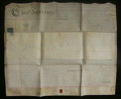 Poplar Marsh Wall 1813 Land & River Front Indenture Signed by George Byng