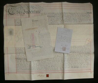 Millwall 1861 Indenture for River Frontage & Land, Signed by George Byng