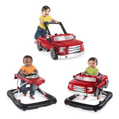Bright Starts 3 Ways To Play Baby Walker Ford F 150 Red Push Behind Safety Seat