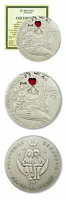Belarus Alice in Wonderland 20 Roubles 2007 BU Silver Crown COA