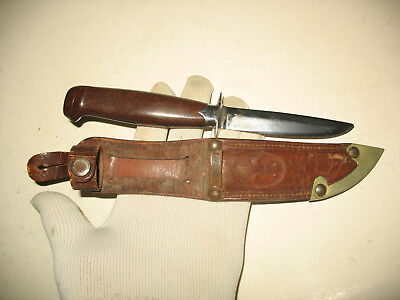 Polish Scout knife + leather sheath  - very old version  ZHP