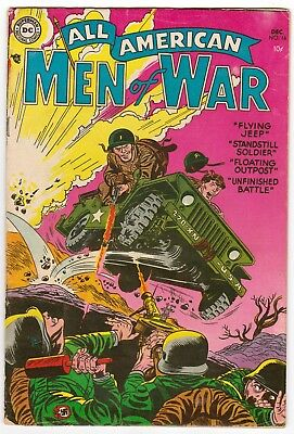 All American Men Of War 16, Vg (4.0), Dc War Book, Great Cover, Bright Colors