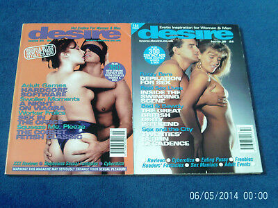 2 x MEN'S GLAMOUR CONTACT MAGAZINES - DESIRE DIRECT ISSUES 23 & 38