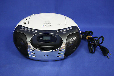 AEG SR 4356 BT Bluetooth Stereo CD Player Radio / MP3 / USB / weiß