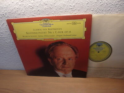 """Wilhelm Kempff / Beethoven Piano Concert """" Lp Dgg Red Stereo"""