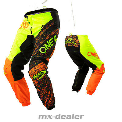 Noir O'neal Traverser Pantalon Mx Element Burnout Motocross Orange I7gymYfv6b
