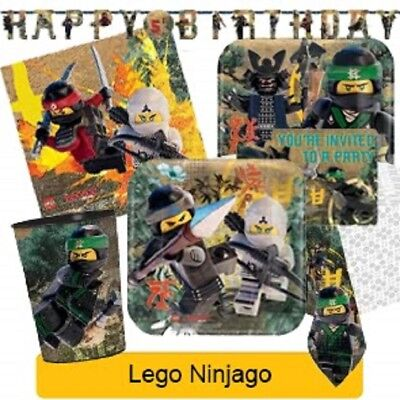 LEGO NINJAGO Birthday Party Range - Tableware Balloons & Decorations {Amscan}