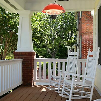 Patio Heater Hanging Ceiling Outdoor 1500W Halogen Gazebo Aluminium Red
